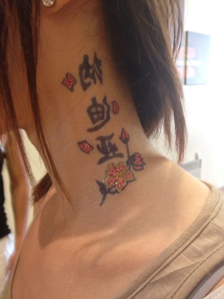 tatouage temporaire jagua + pailette chez bo sourire.fr