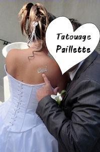 oui , tatoo paillette poudre de diamant