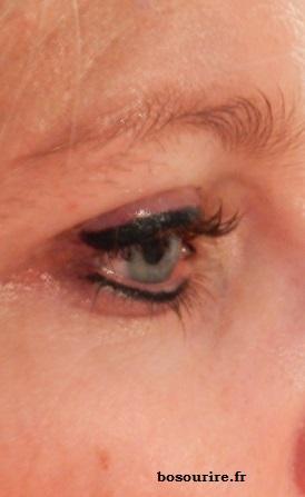 maquillage permanent eye liner haut et bas epais
