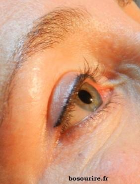 maquillage permanent eye liner haut fin