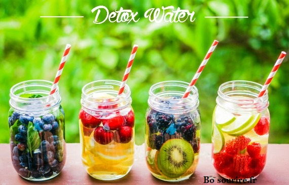 Detox water eau fruitee